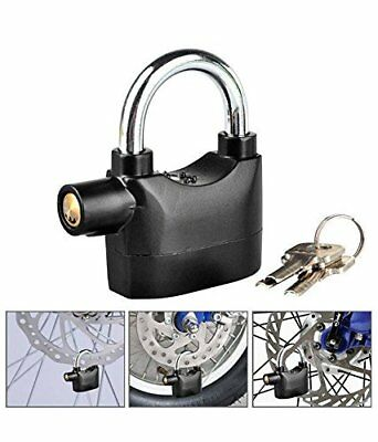 EX1 2in1 Bike Lock Security Alarm 120dB Siren with 3 Keys for Bike Motocycle