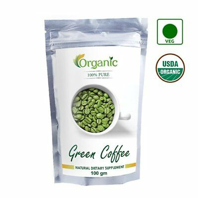 100% Pure Organic Green Coffee Beans (Decaffeinated & Unroasted)-100 gm fastship