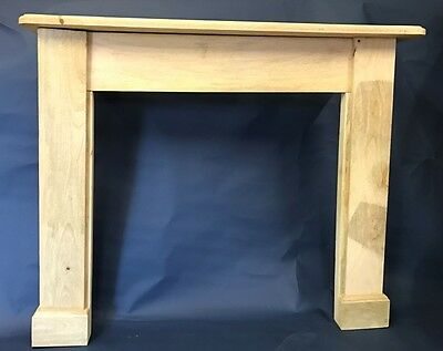 Fire Surround, Rustic. Solid Mango Wood, Hand built