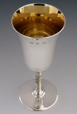 Modernist English Solid Sterling Silver Cup Goblet 1975