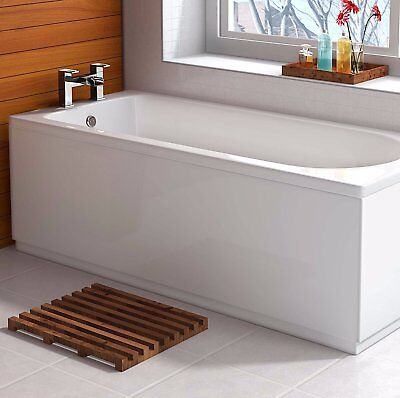 1700mm High Gloss White Moisture Resistant MDF Bath Front Panel & Plinth