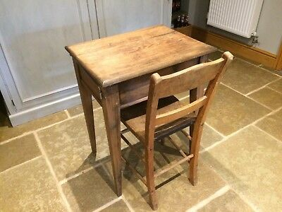 Vintage Wooden Desk and Chair