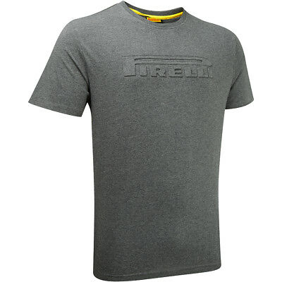 Pirelli T-Shirt Grey Mens Top S M L XL XXL XXXL