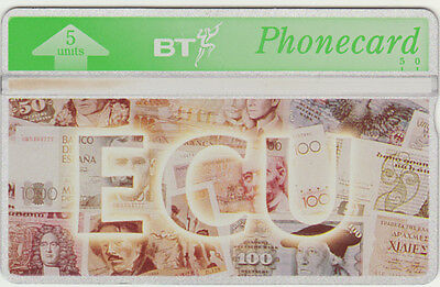 BT Overseas 37, ECU [European Currency Unit], Banknotes, Mint phonecard