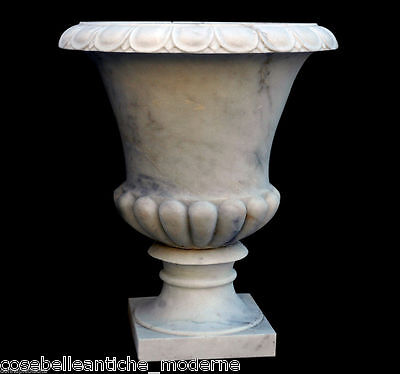 Grande Jar white Marble Carrara Furniture Classic outdoor Big Marble Vase