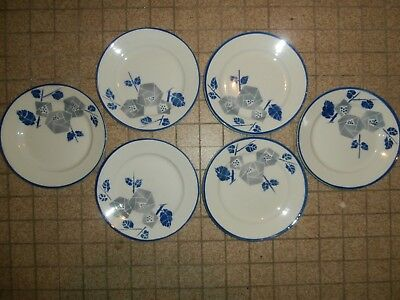 lot de 6 assiettes art/deco K.G luneville