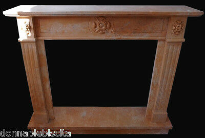 Fireplace Marble rosa Old Furniture Classic Antiques Style Empire