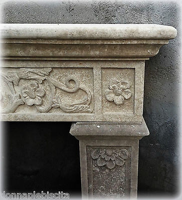 Fireplace Stone Leccese Style Empire Lecce Stone Fireplace Made in Italy L130cm