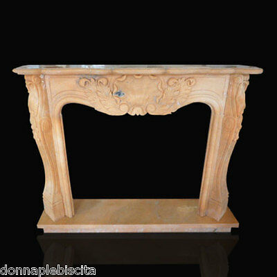 Frame Fireplace fireplace in Marble Rosa Portugal Classic fireplace Marble Frame