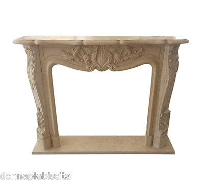 FIREPLACE Marble Travertine FIREPLACE Art Antiques Old Style Classic louis XVI