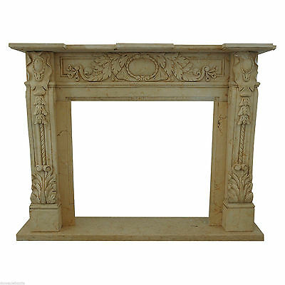 Fireplace Style Empire Classic Travertine Stone Travertine Marble Old Fireplace