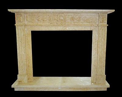 Frame Fireplace Fireplace in Travertine Classic Old Fireplace Marble Frame Top