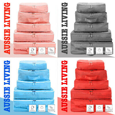 5pcs Travel Organizer Packing Cube Pouch Suitcase Clothes Storage Bags Luggage