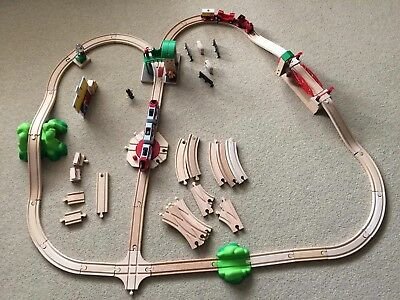 Brio Wooden Railway bundle - trains, track, signal station and more!
