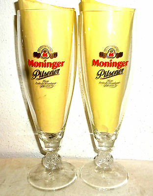 4 Moninger Pilsner Karlsruhe German Beer Glasses