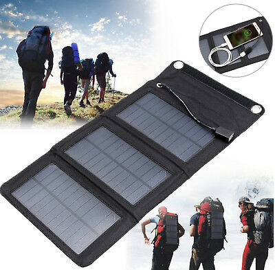 New Charger 5W Portable Solar Panel Outdoor Travel Foldable Charger Power Bank