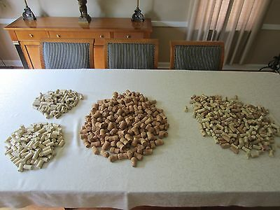 HUGE Collection of 1306 Used Wine and Champagne Corks.......Free Shipping !!!!!