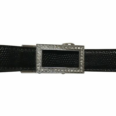 Womens Black Leather Golf Belt