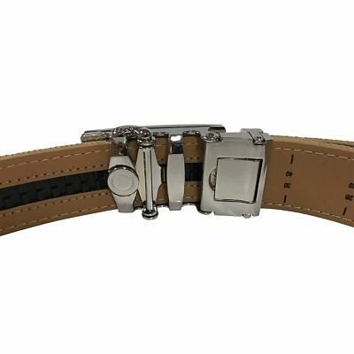 Women's Navy Leather Canvas Golf Belt