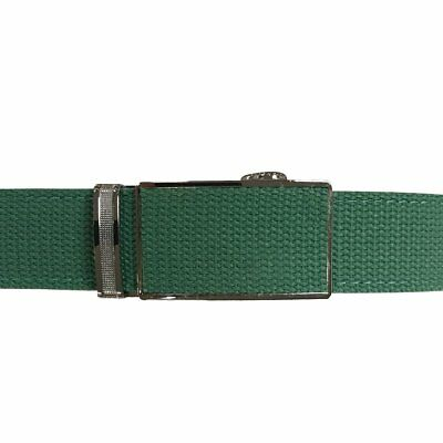 Women's Green Leather Canvas Golf Belt