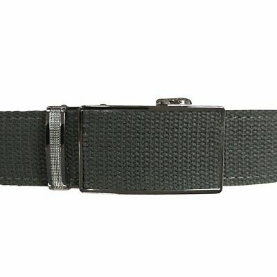 Women's Grey Leather Canvas Golf Belt