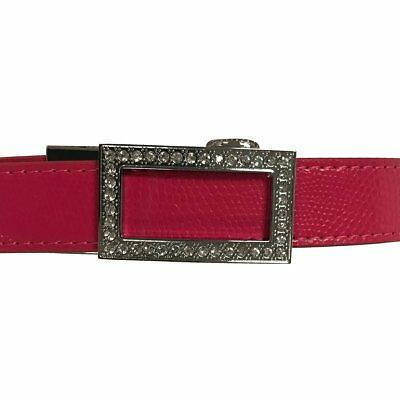 Women's Pink Leather Golf Belts