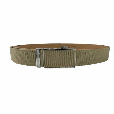Women's Tan Leather Canvas Golf Belt