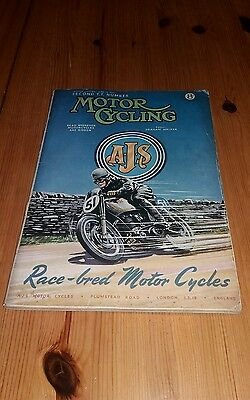 1951 Motor Cycling 14th June 1951.  VGC