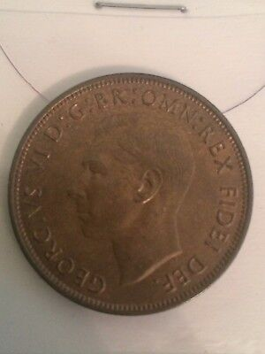 George Vi  Bronze   Penny Coin Dated 1951 Ef