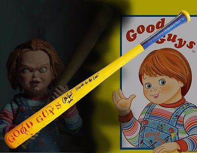 Alex Vincent Child's Play Autographed Good Guys Baseball Bat Chucky w/Inscripton