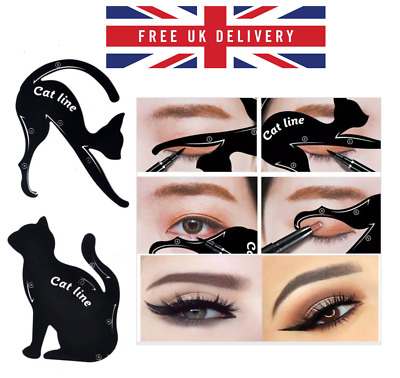 Cat Line Eyeliner Stencils Cat Eyes Shaper Eye Shadow Tool Makeup Template 2pcs
