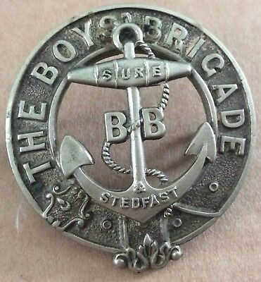 Vintage Boys Brigade Sure & Steadfast Fouled Anchor Cap Badge