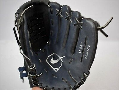 "Nike Kaos Baseball Glove 1109 Left Hand Catch 11"" Black Leather FREE UK POST"