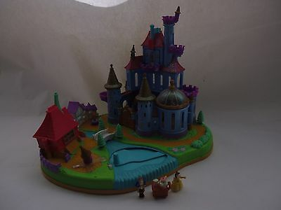 Rare Vintage 1997 Belle's Magical Castle Playset Beauty and The Beast + Dolls