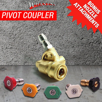 Angle Pivot Coupler, Pressure Washer, Lance, Telescopic Lance. Genuine Wilks-USA