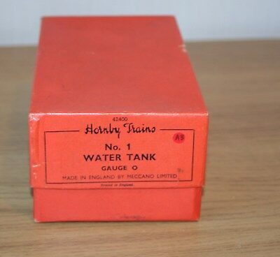O GAUGE -  HORNBY No 1 WATER TANK - MINT AND BOXED (1)