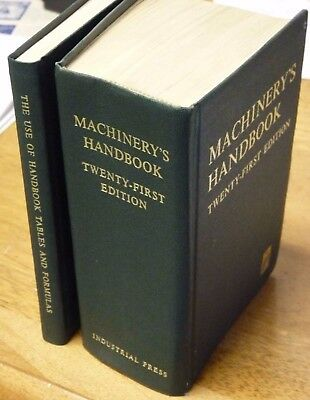 "Machinery's Handbook 21st Edition with Companion ""Use of . . . "" volume"