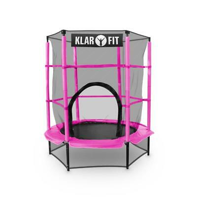 KLARFIT ROCKETKID 140cm GYMNASTICS TRAMPOLINE WITH SAFETY NET FITNESS TRAINING