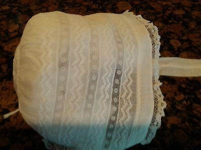Excellent Vintage Infant Bonnet for Christening Outfit