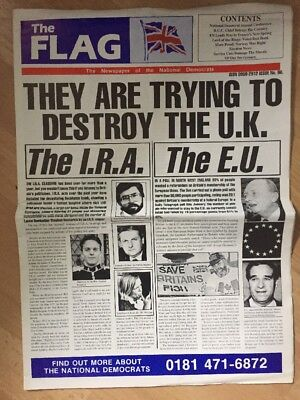 The Flag Newspapers 1996 No 96 National Front NF British National Party BNP