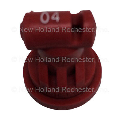 New Holland Red Wide Angle Flat Spray Tip Part # 51406076 for Sprayers
