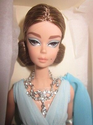 Blue Chiffon Ball Gown Silkstone Barbie Nrfb!!!