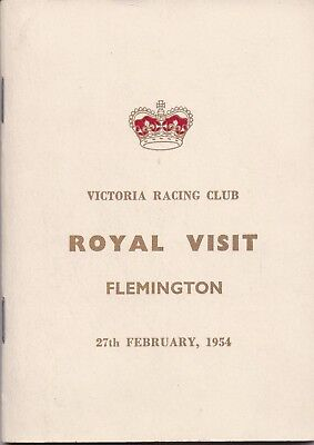 1954 Flemington Race Book:  ROYAL  VISIT  MEETING  (Wodalla, Cromis, Hydrogen)
