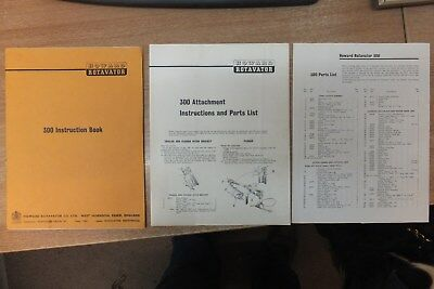 howard 300 rotavator instructions engine manual parts list & attachments lists