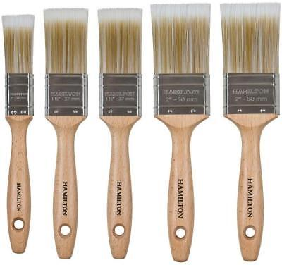 Hamilton Prestige Synthetic Paint Brush Set 5 piece Anza Orkla