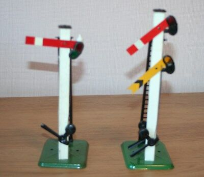 O GAUGE -  HORNBY 2 x  SIGNALS, HOME, HOME AND DISTANT SINGLE COLUMN-