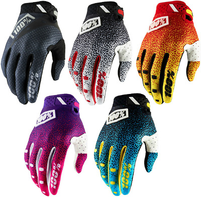 2018 100% Ridefit Gloves Full Finger MTB Mountain Bike MX Motocross Enduro NEW