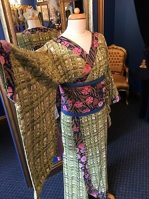 "Beautiful Kimono With Obi From Gilbert & Sullivan's Operetta ""The Mikado"""