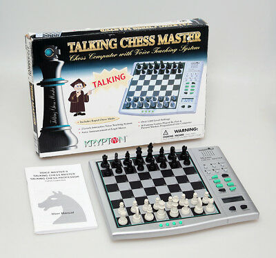 ** Krypton Talking Chess Master Computer & Voice Teaching - Complete Boxed **