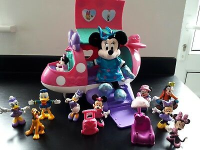 Disney Mattel laughing Minnie Mouse, Areoplane & Figures large lot